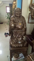 Handicraft bronze Buddha statue/handmade beautiful art