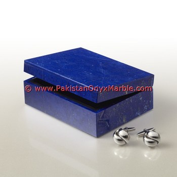 CARVED LAZULI JEWELRY BOXES HANDICRAFTS