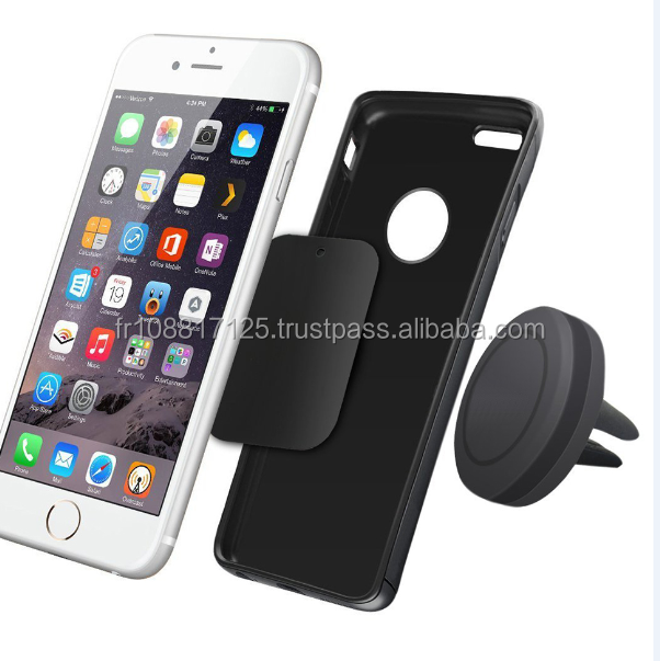 Best selling universal air vent outlet magnetic mobile phone car phone holder, car mount for cell phone