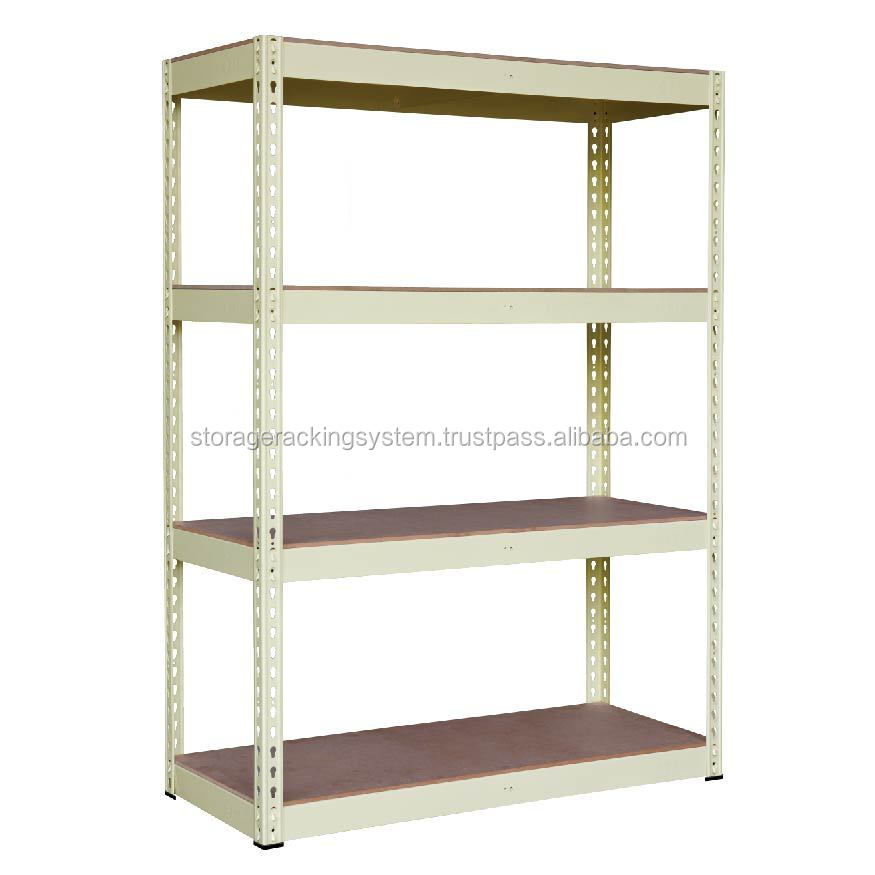 Wood Shelve Metal Storage Organizer Beige Color Boltless Econ rack shelving racking systems