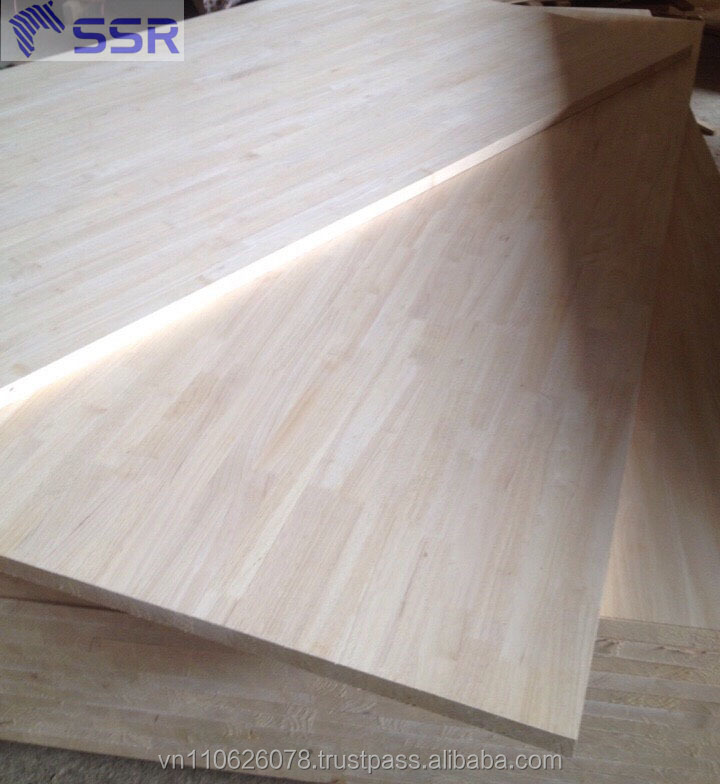 High quality Rubber Wood Panel with Finger Joint/Rubber wood board