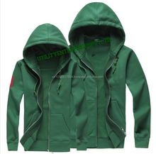 Customized Basic Kangro Pockets Fleece Hoodies With Zipper