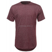 Wholesale Custom Style Curved hem tshirts round Neck t shirt men 68% cotton, 29% lyocell, 3% spandex OEM Services Low MOQ