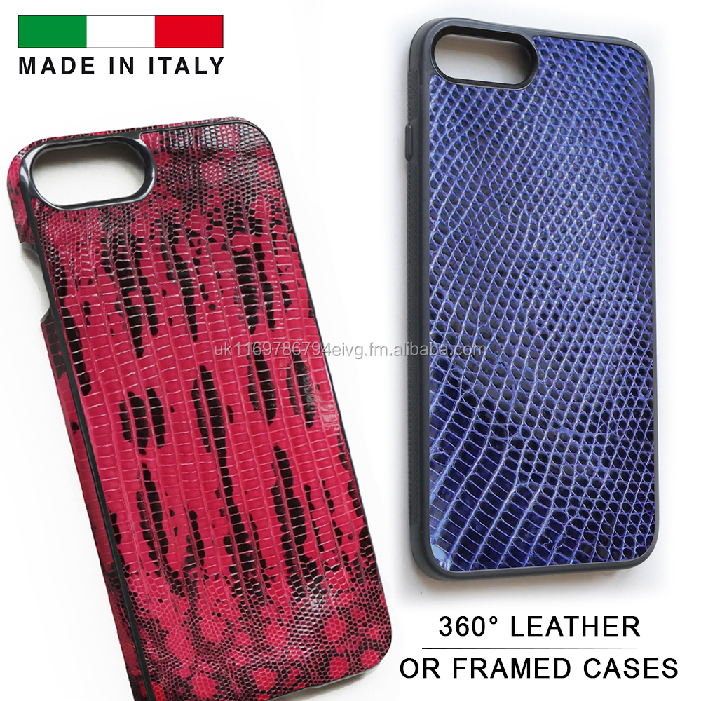 Genuine Lizard Leather Mobile Phone Case for 6, 6 Plus, 7, 7 Plus & 8 Made in Italy