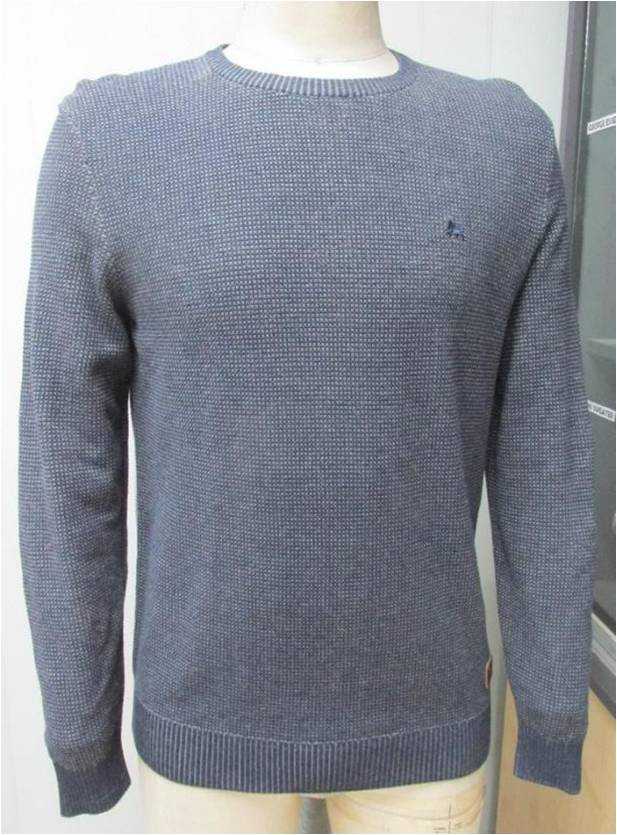 100% Cotton Melange round neck Fashion Men's Sweater