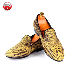 Unisex custom printed loafer style buy cheap canvas shoes online
