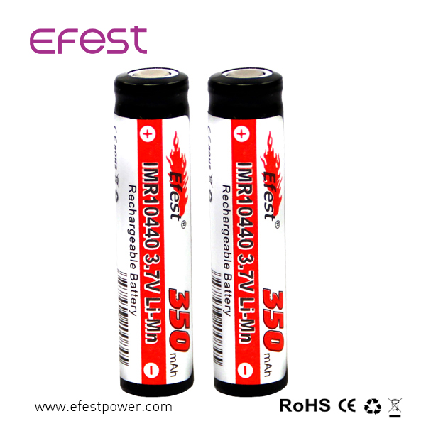 Efest 10440 Li-ion Rechargeable Batteries 350mAh 3.7V for LED Flashlight Torch