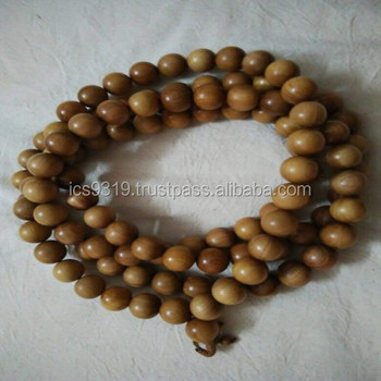 India Original Sandalwood Beads 18mm to 20mm