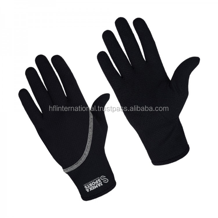 Lightweight windproof running gloves with touch screen function for smart phone and custom brand logo wholesale