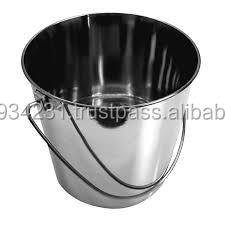 Matt finish -Stainless Steel 12 liter pail handle bucket