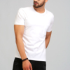 Hot Sale Latest Fashion Crew Neck Best Selling T Shirt Men In White