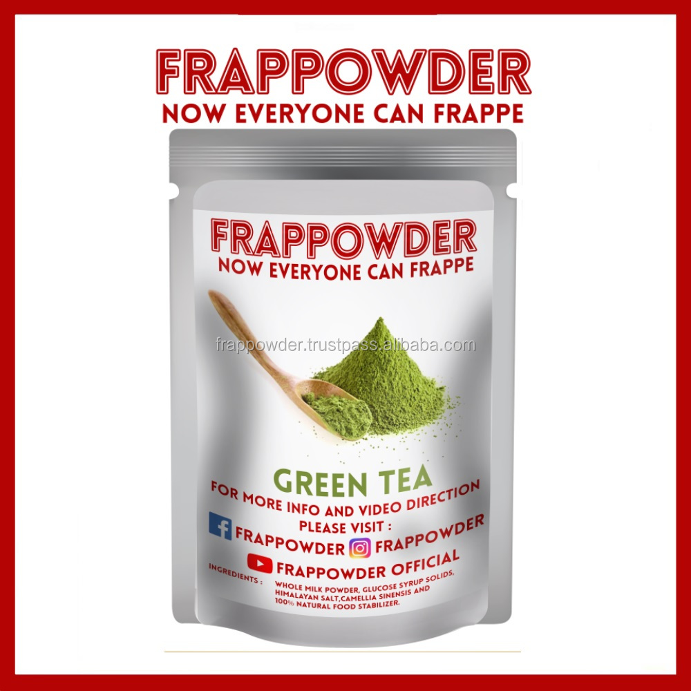 Green Tea Frappe Powder - Milkshake - Instant Ice Blended Powder -