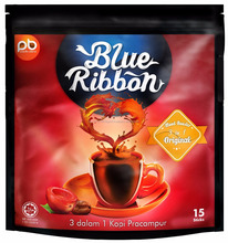 Hot Selling Malaysia Made Instant Coffee Blue Ribbon 3 in 1 Original Coffee