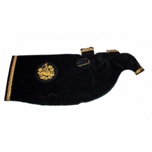 Velvet Bag Cover Silver or Gold Braid with Badges Available different colors