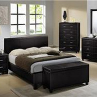 Bedroom Furniture PU Upholstery Bed Night