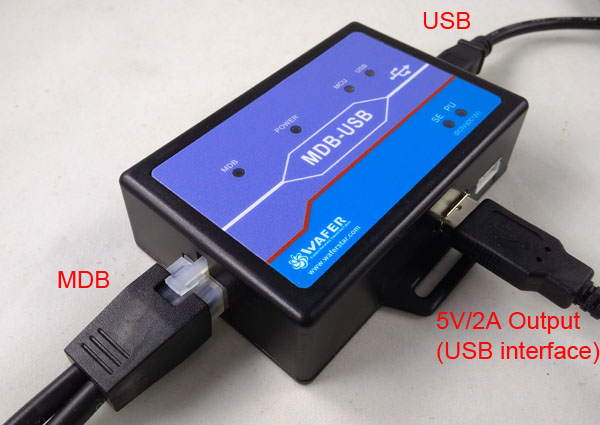 MDB-USB cashless payment adapter for vending machine connect POS to mobile vending machine