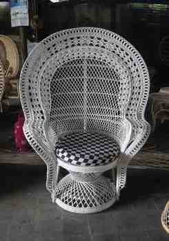 Sierra wicker peacock chair for sale