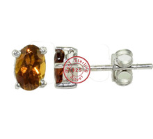 Trendy Tourmaline jewelry stud earring exporter 925 sterling silver women earring wholesale silver jewelry