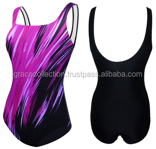 2017 Sublimation Print Swimming Suit For women