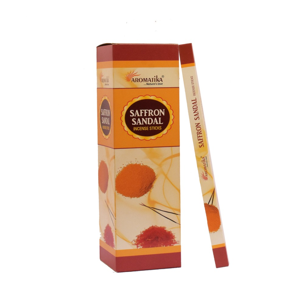 Saffron Sandal perfumed Square pack Incense Sticks