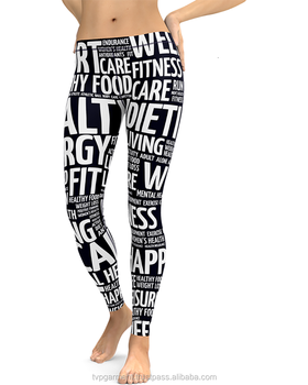 Custom women dye sublimation printing yoga legging BT_DFF_003