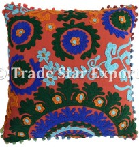 Indian Cotton Hand Embroidered Cushion Covers Embroidery Design Cotton fabric Pillow case Cover