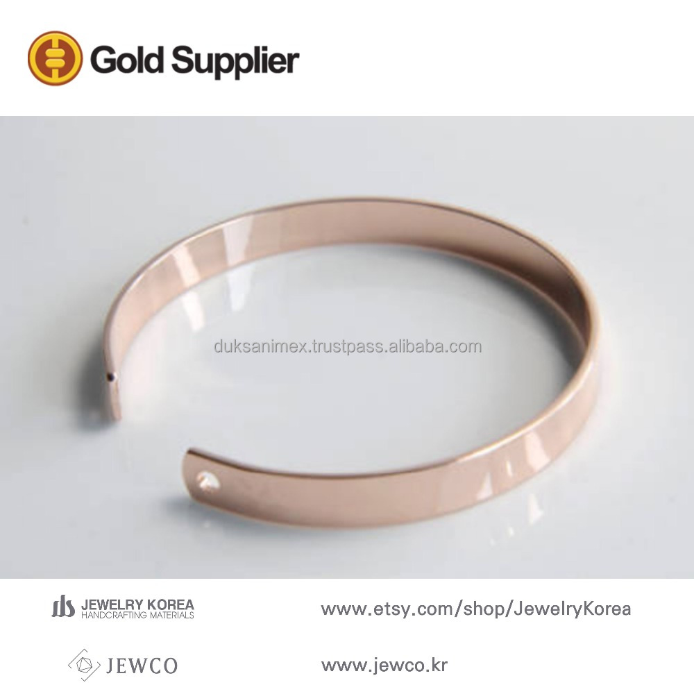 Rose gold jewelry rose gold plated bracelet bangle cuff stamping blanks fashion bracelet, C20-P1