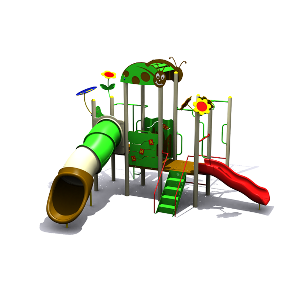 Outdoor Playground Equipment for Kids with Slider and Stair
