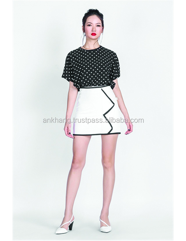 Latest design girl fashion mini skirt
