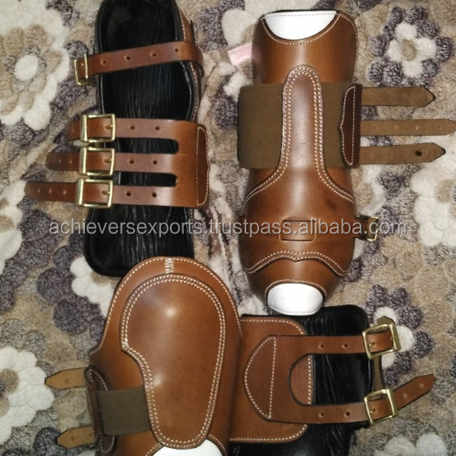 Leather Horse Boots Set | Horse Leg Protection