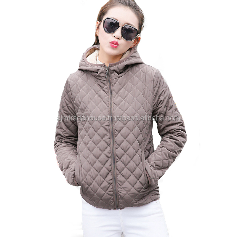 Wholesale women camo print quilted custom padded bomber jacket hot design new 2017