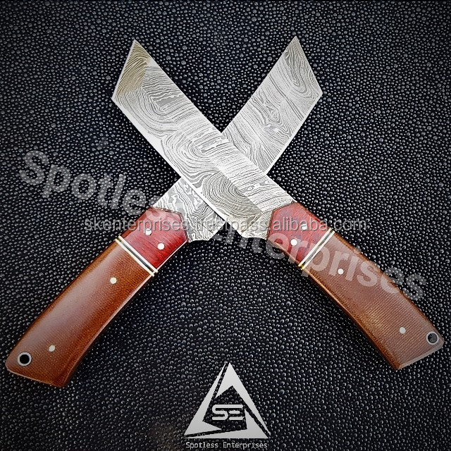 Hand made Damascus Steel Tanto Knives