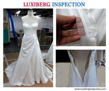 Wedding Dress Quality Inspection Service in Suzhou / Highly Professional Inspection Service for Wedding Dress & Evening Dress