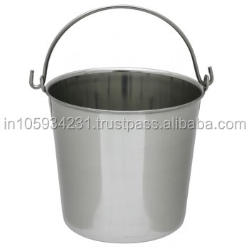10 Ltr stainless steel Matt finish handle bucket
