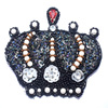 Fashion king crown shape beaded embroidery patch