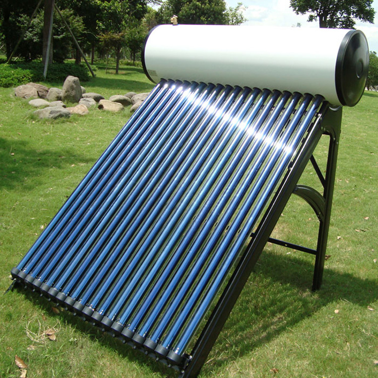 Stainless steel compact pressurized water solar heater