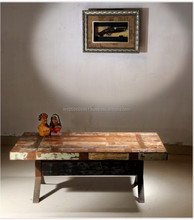 Indian Reclaimed Wood Living Room Center Coffee Table