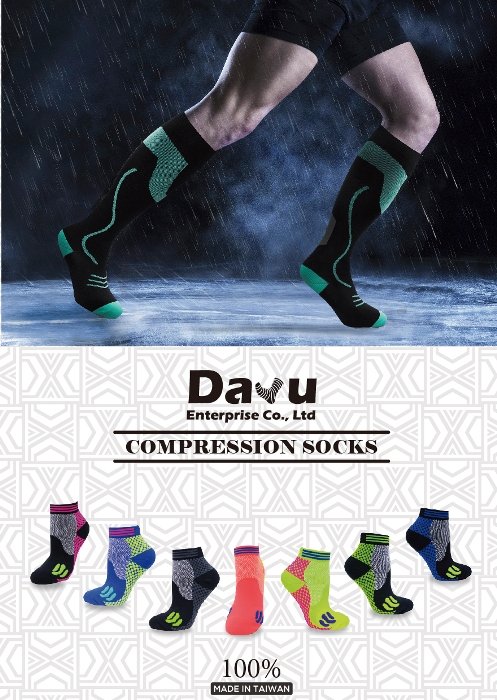 Graduated Sports Golf compression socks Made In Taiwan