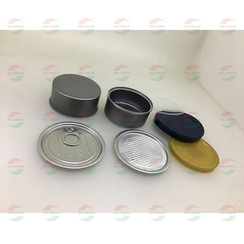 Smaller Tin Can Heml Packaging With Easy Open End And Plastic Cap 65x30mm