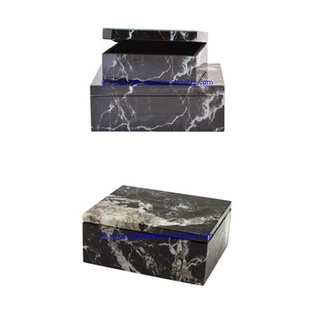 Strong quality sets gift marble boxes rectangle Boxes Jars canister container round square