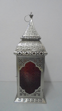 Glass & Iron Cutwork Beautiful Texture Hanging Moroccan Lantern