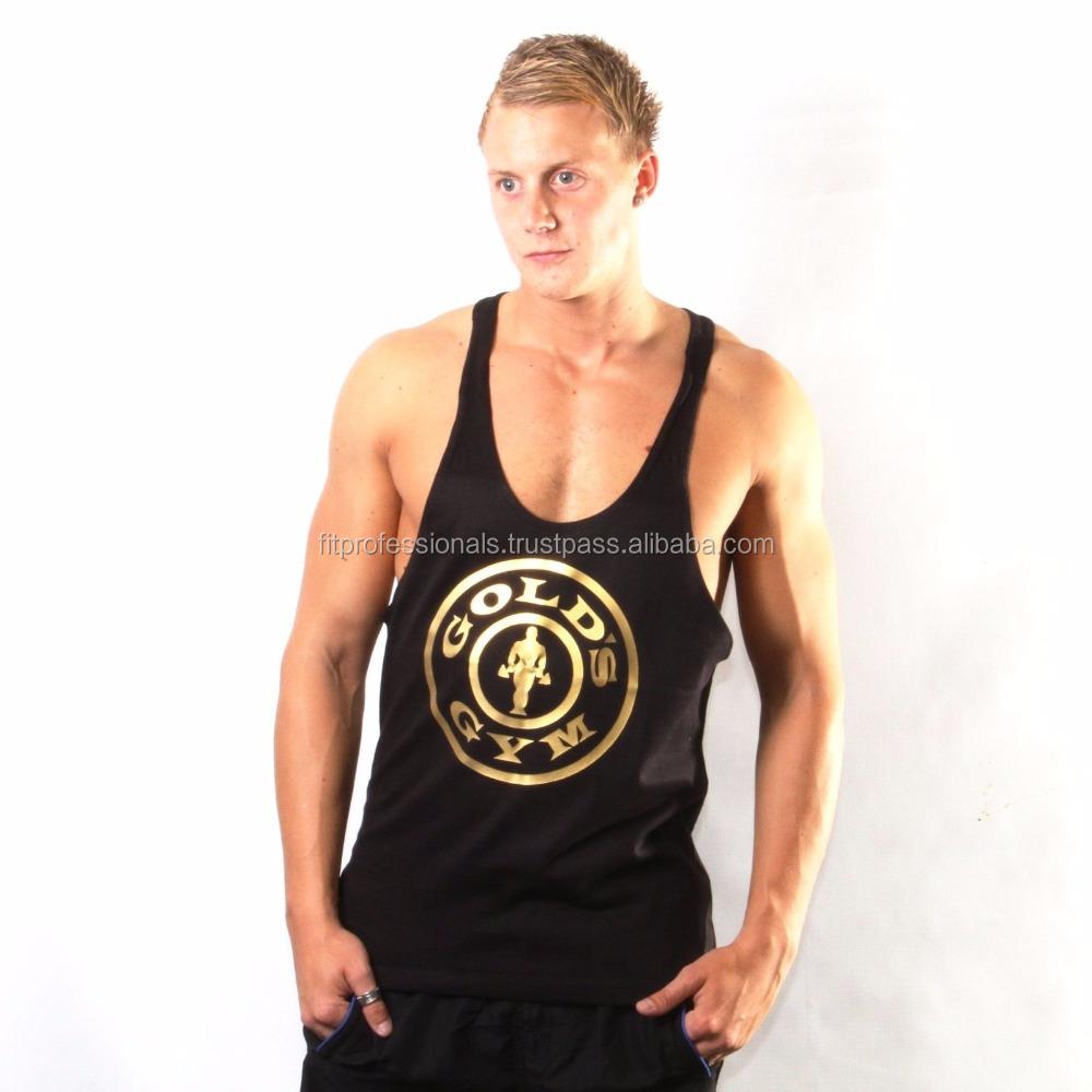 0daa40b085a6b8 Wholesale Custom 100% Cotton Golds Gym Bodybuilding Men Stringer Tank Tops  - Buy Gym Singlet