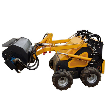 Garden machine skid steer mini garden tiller