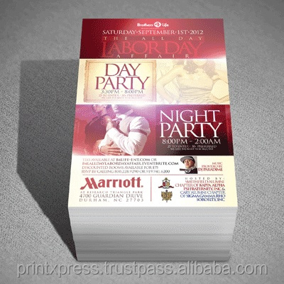 A4 size 130 GSM Matte or Gloss Multi color flyers Offset printing leaflet