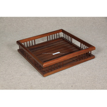 High quality wooden Parthenon square serving tray