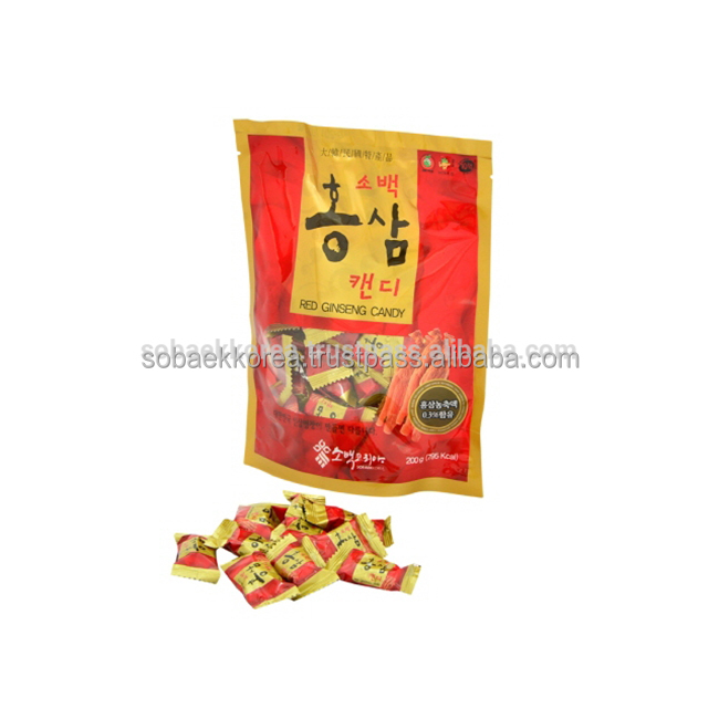 Korean Supplier Spices, Herbs Flavor RED GINSENG Hard CANDY