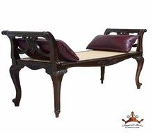 Relaxing chair made of mahogany wood is perfect for home / hotel / restaurant furniture with rattan and pillow applications