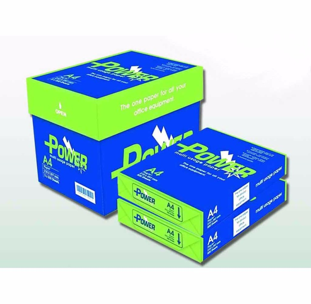 POWER GREEN A4 WHITE PHOTOCOPY PAPER 80GSM