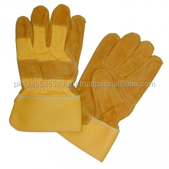 Leather Work Glove Hand Safety Gloves