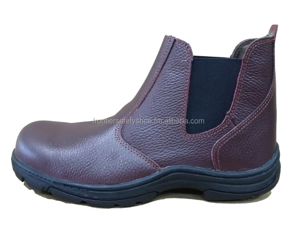 OEM Brand 6 inch Zip manufacturer in Malaysia China Indonesia Thailand Steel Toe Cap Nailproof ,oily leather safety shoe